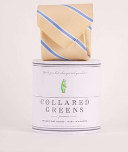 Neck Ties - The James Tie In Yellow By Collared Greens