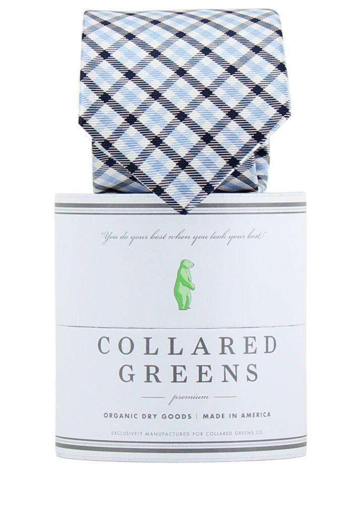 Neck Ties - The Mitchell Tie In Carolina/Navy By Collared Greens