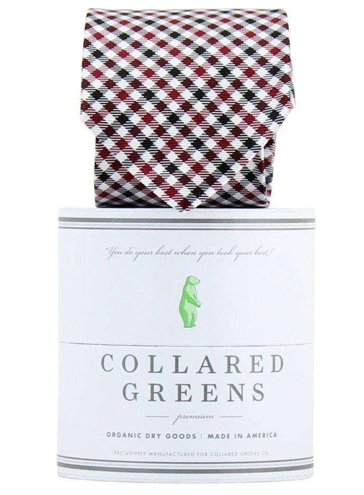 Neck Ties - The Mitchell Tie In Garnet/Black By Collared Greens