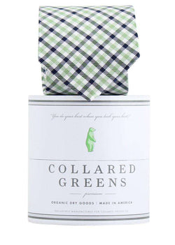 Neck Ties - The Mitchell Tie In Green/Blue By Collared Greens