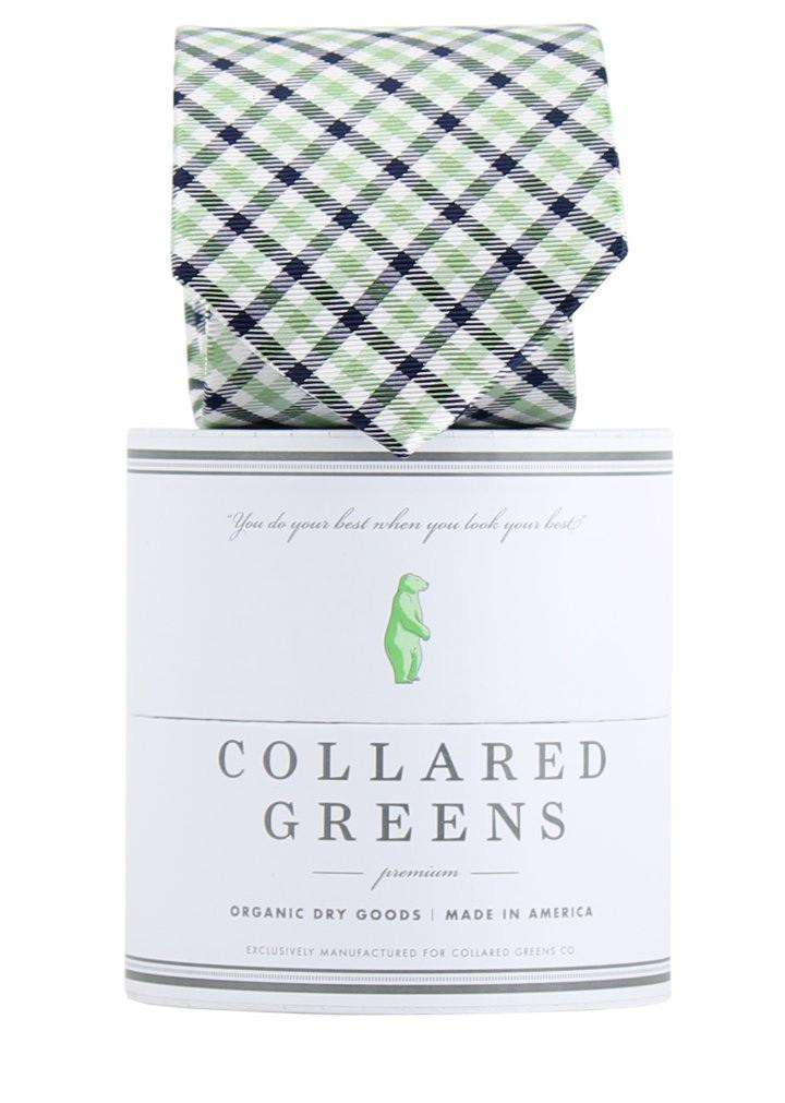 The Mitchell Tie in Green/Blue by Collared Greens