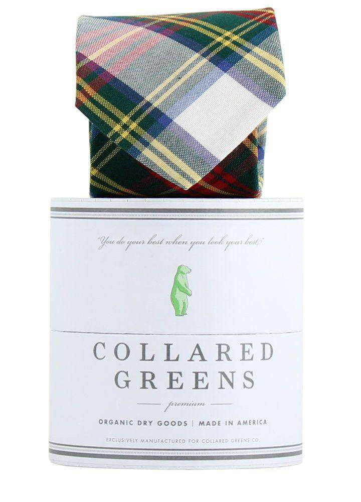The Pisgah Tie in Green/Red/Yellow by Collared Greens