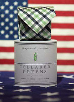 Neck Ties - The Quad Tie In Green/Blue By Collared Greens