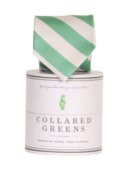 Neck Ties - The Torrey Tie In Teal And White By Collared Greens