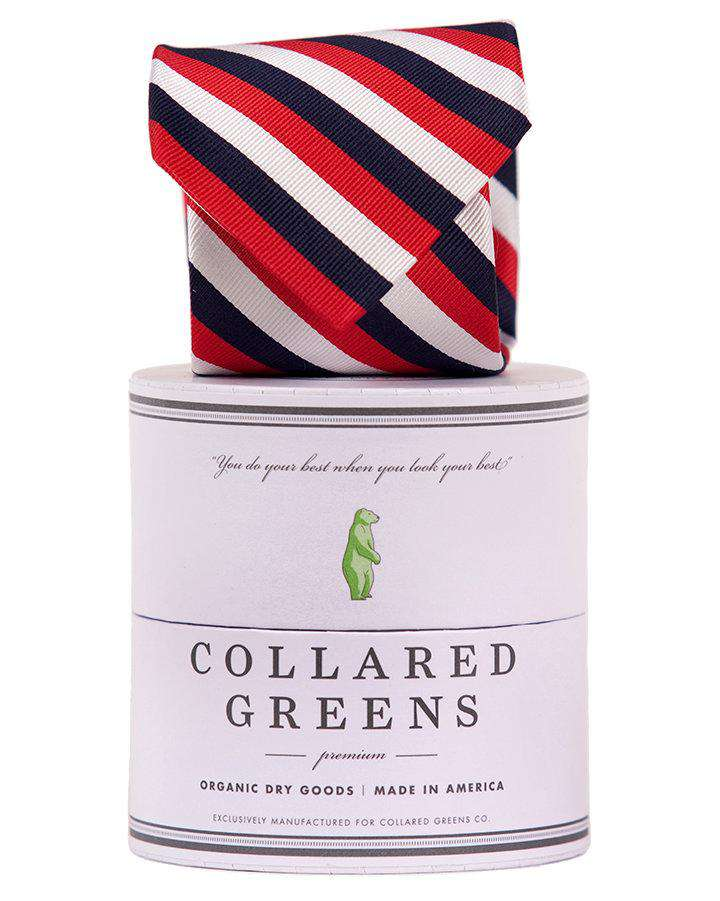 The USA Stripe Tie in Red, White, and Blue by Collared Greens