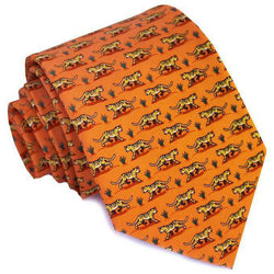 Neck Ties - Tiger Tales Neck Tie In Orange By Bird Dog Bay