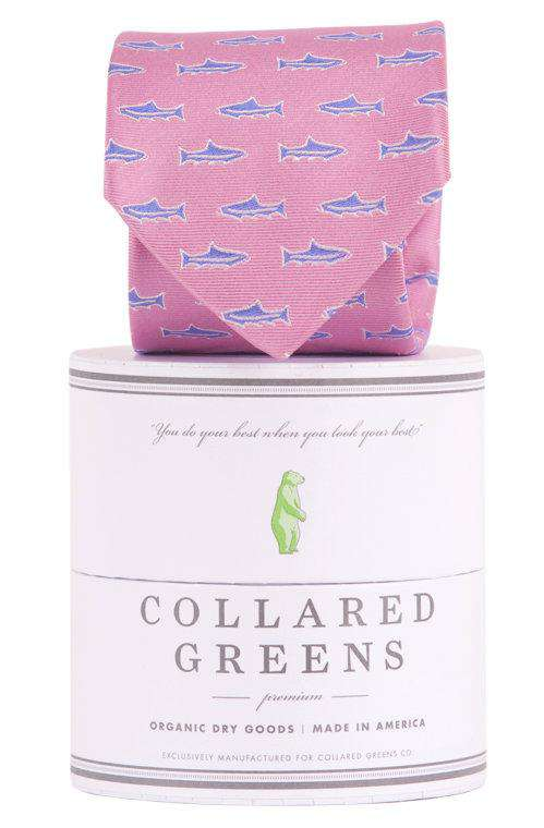 Trout Tie in Pink by Collared Greens