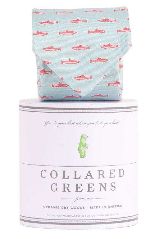 Neck Ties - Trout Tie In Sea Green By Collared Greens