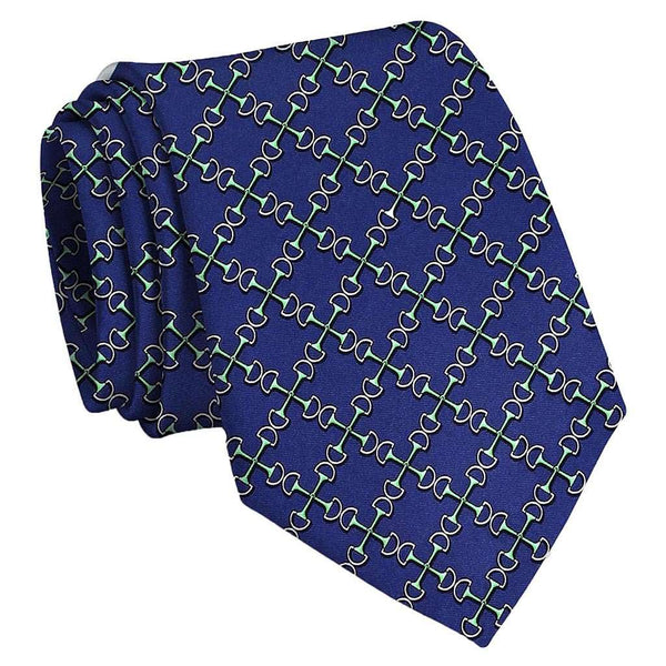 Neck Ties - Two Bits Tie In Mid-Blue By Bird Dog Bay