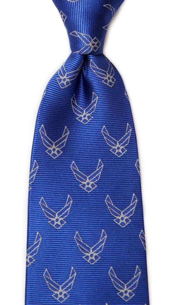 U.S. Air Force Neck Tie in Blue by Dogwood Black