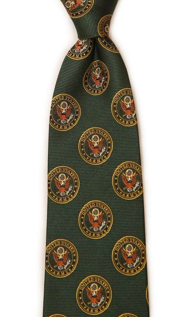 U.S. Army Neck Tie in Hunter Green by Dogwood Black