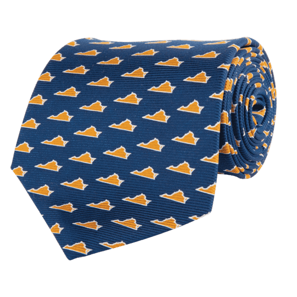 Virginia Charlottesville Gameday Tie in Navy by State Traditions and Southern Proper - Country Club Prep