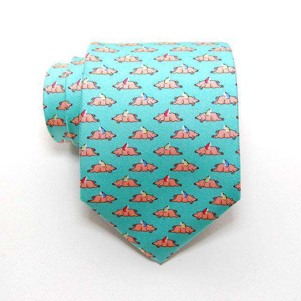When Pigs Fly Tie in Aqua by Peter-Blair
