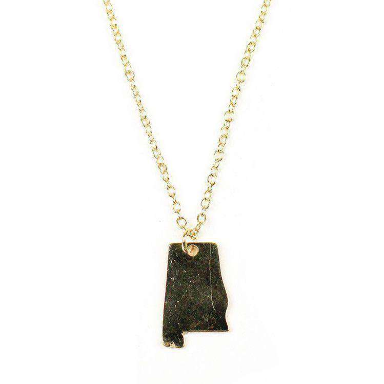 Necklaces - Alabama Necklace In Gold By Country Club Prep