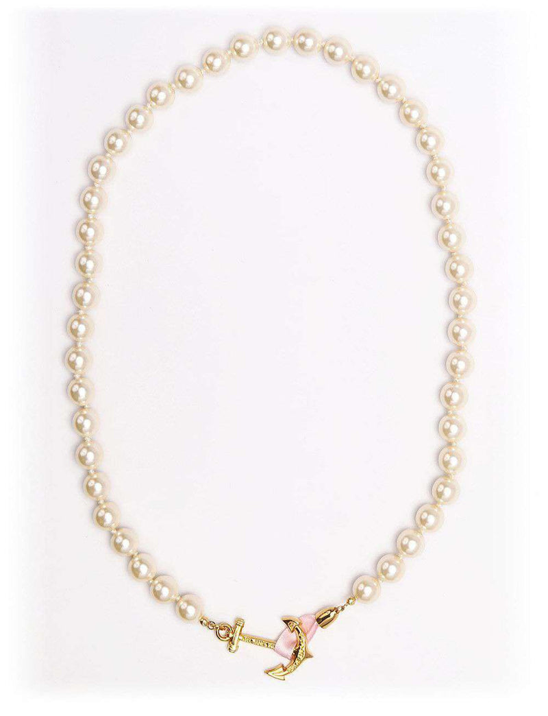 Necklaces - Aubrey Pearl Anchor Necklace By Kiel James Patrick