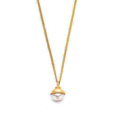 Necklaces - Gigi Gold Pearl Necklace By Julie Vos