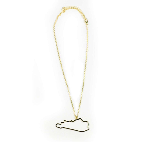 Kentucky Necklace in Gold by Country Club Prep