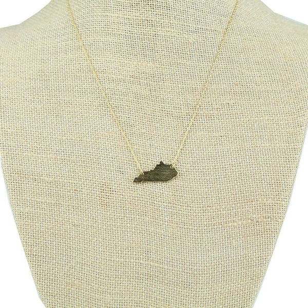 Kentucky State Pendant Necklace in Gold by Country Club Prep