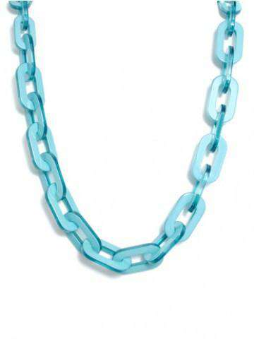 Necklaces - Lovely Link Necklace In Aqua By Zenzii