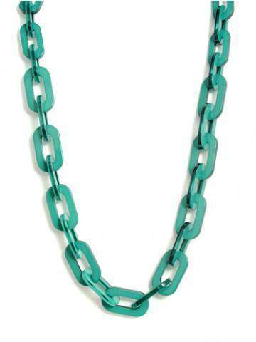 Lovely Link Necklace in Deep Green by Zenzii - Country Club Prep