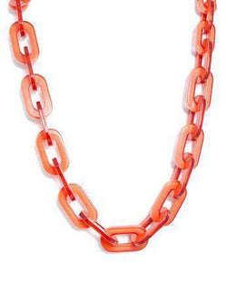 Lovely Link Necklace in Orange by Zenzii - Country Club Prep