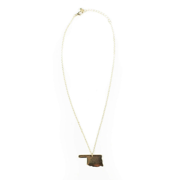 Necklaces - Oklahoma Necklace In Gold By Country Club Prep