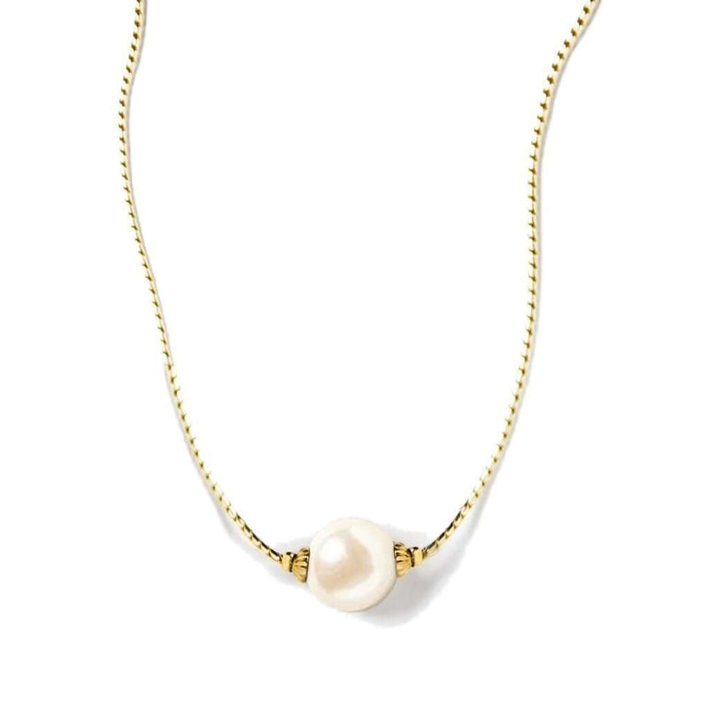 Simply Pearlfect Necklace in Gold by Kiel James Patrick