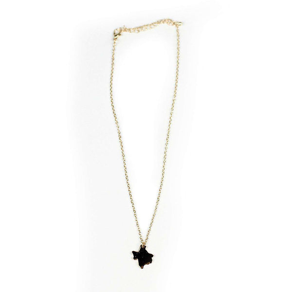 Necklaces - Texas Necklace In Gold By Country Club Prep