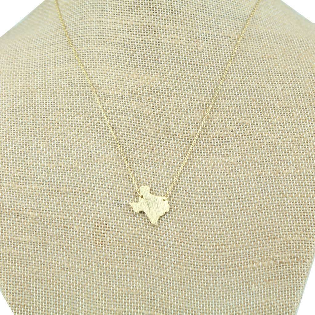Texas state pendant necklace in gold by country club prep necklaces texas state pendant necklace in gold by country club prep aloadofball Gallery