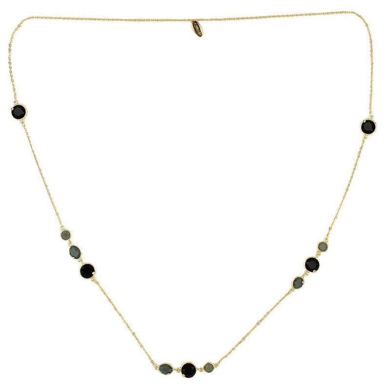The Cabana Jeweled Long Necklace in Onyx by Fornash - FINAL SALE