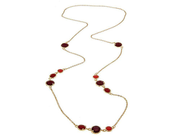 The Cabana Jeweled Long Necklace in Ruby by Fornash - FINAL SALE
