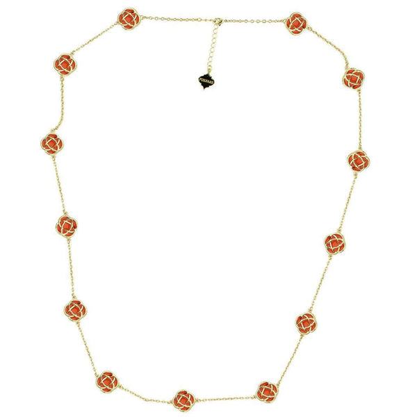 The Murphy Necklace in Gold and Orange by Fornash