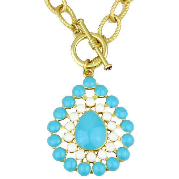 The Natalie Necklace in Aqua and White by Fornash