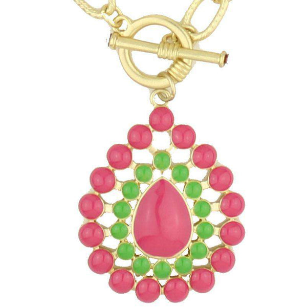 The Natalie Necklace in Pink and Green by Fornash