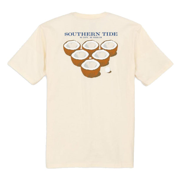 No Cups, No Problems Tee Shirt in Ivory by Southern Tide
