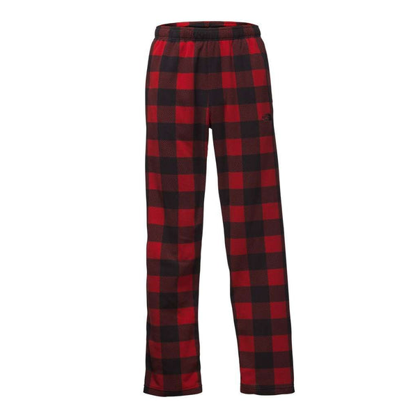 The North Face Men's Glacier Pants in Cardinal Red Grizzly Print