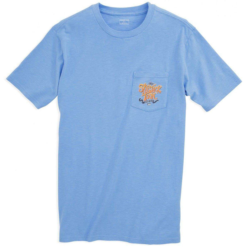 The Skipjack Tour Tee-Shirt in Ocean Channel Blue by Southern Tide