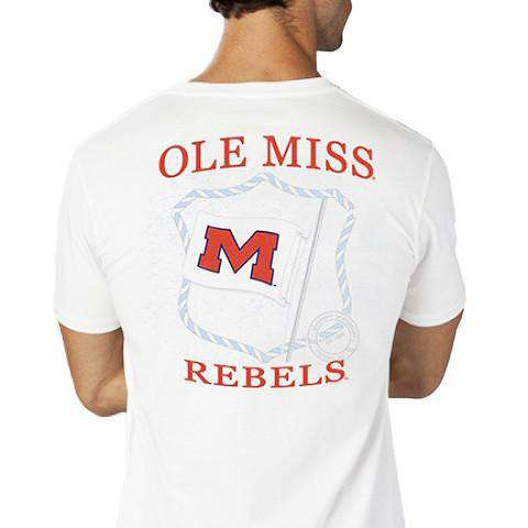 Ole Miss Flag Tee Shirt in White by Southern Tide  - 1