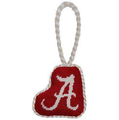 Ornaments - Alabama Needlepoint Christmas Ornament In Red By Smathers & Branson