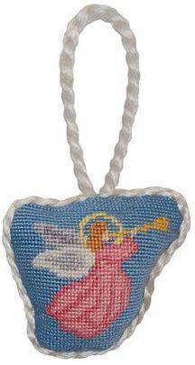 Ornaments - Angel Needlepoint Christmas Ornament In Blue By Smathers & Branson