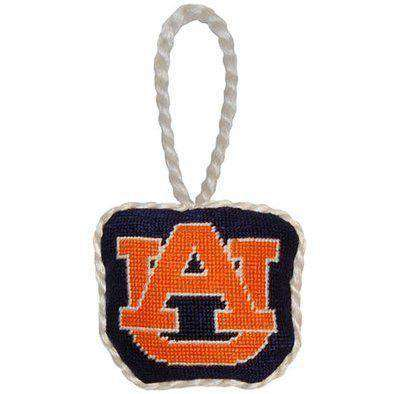 Auburn Needlepoint Christmas Ornament in Navy by Smathers & Branson