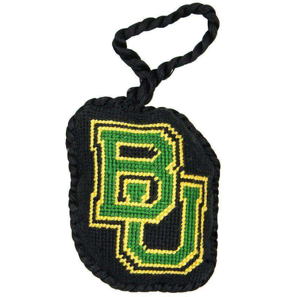 Ornaments - Baylor Needlepoint Christmas Ornament In Black By Smathers & Branson