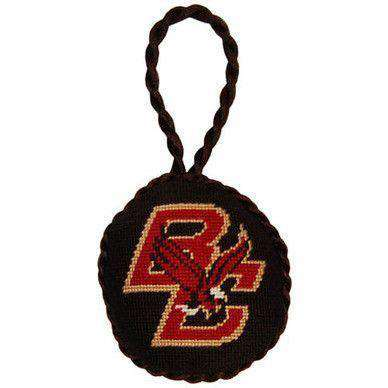 Ornaments - Boston College Needlepoint Christmas Ornament In Black By Smathers & Branson