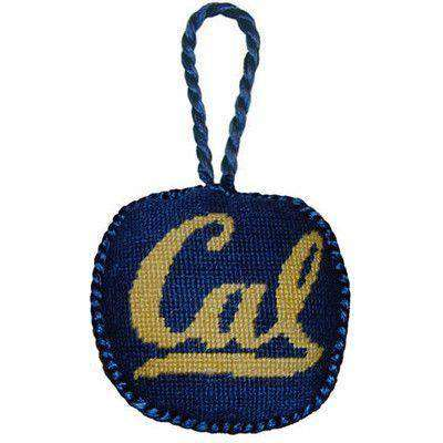 Ornaments - California Berkeley Needlepoint Christmas Ornament In Navy By Smathers & Branson