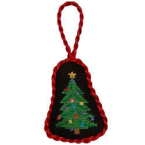 Ornaments - Christmas Tree Needlepoint Christmas Ornament In Black By Smathers & Branson