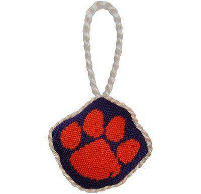 Ornaments - Clemson University Needlepoint Christmas Ornament In Purple And Orange By Smathers & Branson
