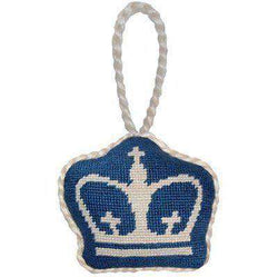 Ornaments - Columbia University Needlepoint Christmas Ornament In Blue By Smathers & Branson