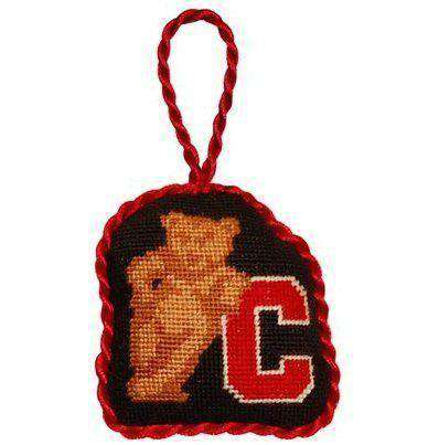 Cornell University Needlepoint Christmas Ornament in Black by Smathers & Branson