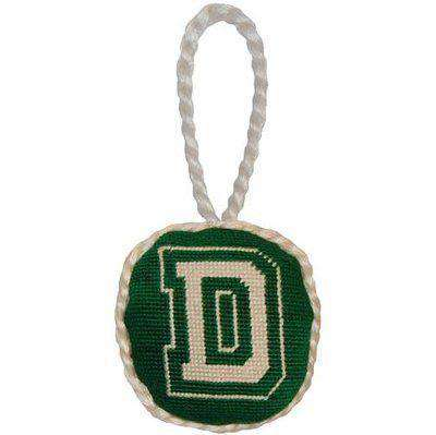 Dartmouth College Needlepoint Christmas Ornament in Green by Smathers & Branson