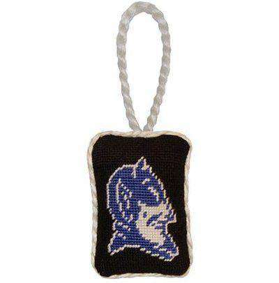 Duke Needlepoint Christmas Ornament in Black by Smathers & Branson